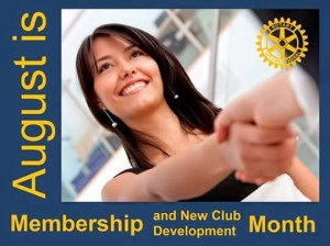 August - Membership and New Club Development Month